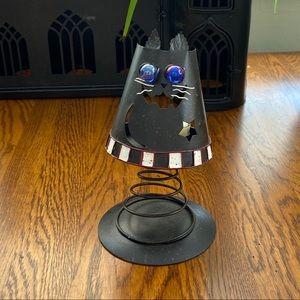 NWOT Metal Spring Cat 3D tea light candle holder